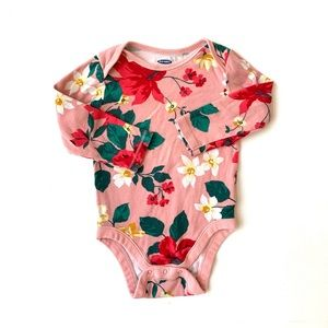 3/$25 Old Navy Baby Girl Floral Onesie